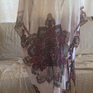 Woven Heart Other - Beautiful Cream & Purple Kimono